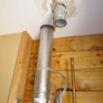 photo of installed vent pipe
