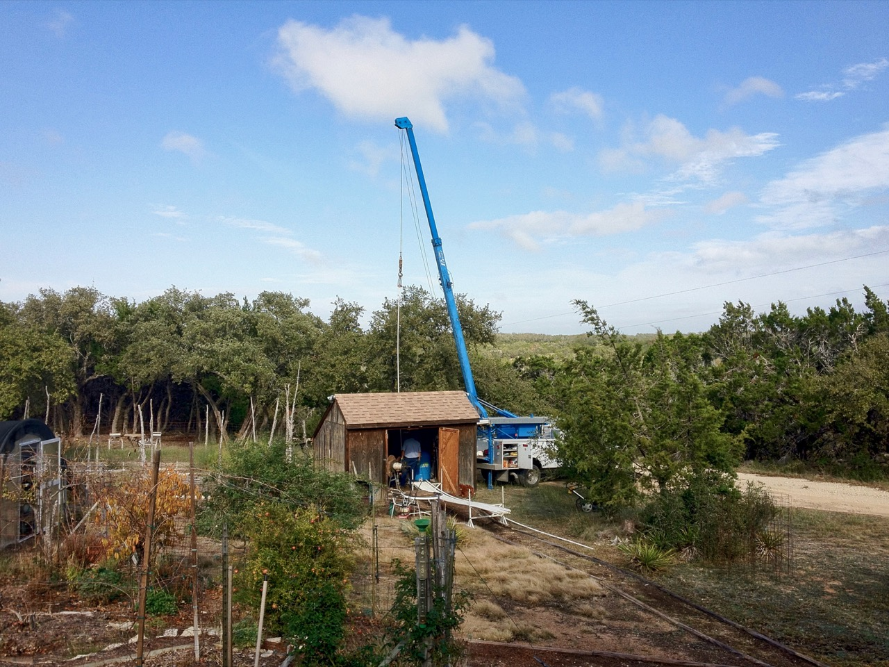 photo of Lowering the new pump