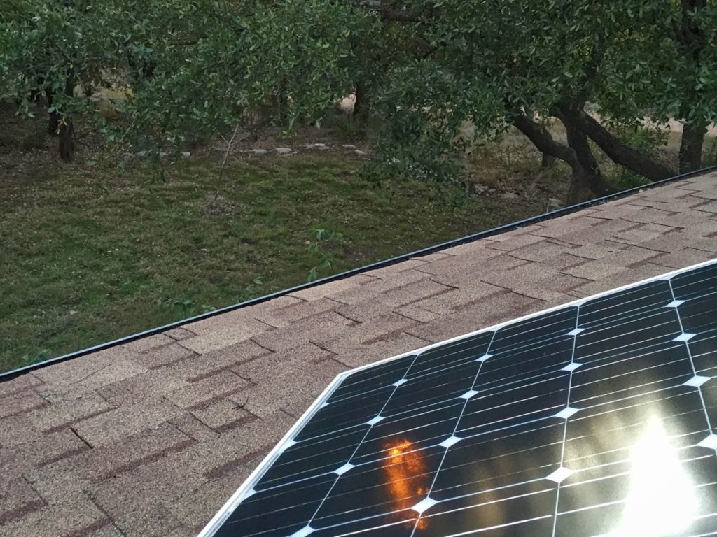 photo of roof-mounted solar panel