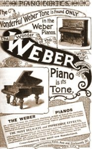 Weber Piano Advertisement from the 1880's