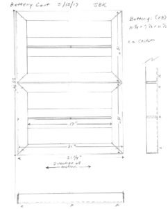 graphic of Battery cart plan