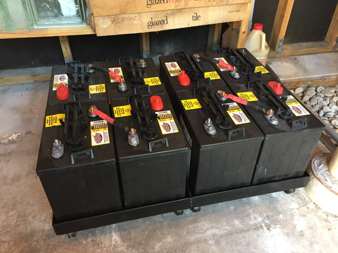photo of Battery cart with batteries