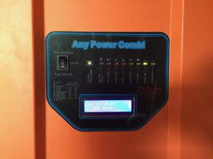 photo of the Inverter control panel