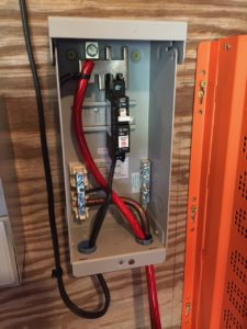 photo of the Panel combiner wiring
