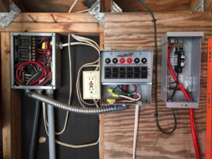 photo of the Transfer switch wired