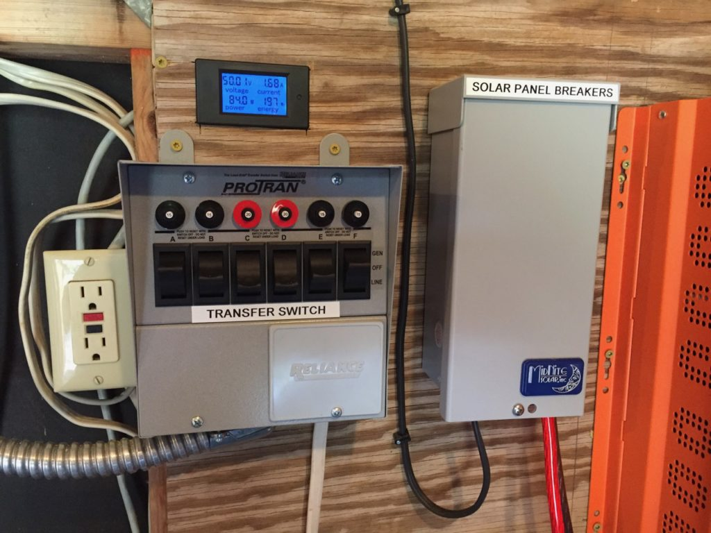 photo of the Transfer switch with power meter