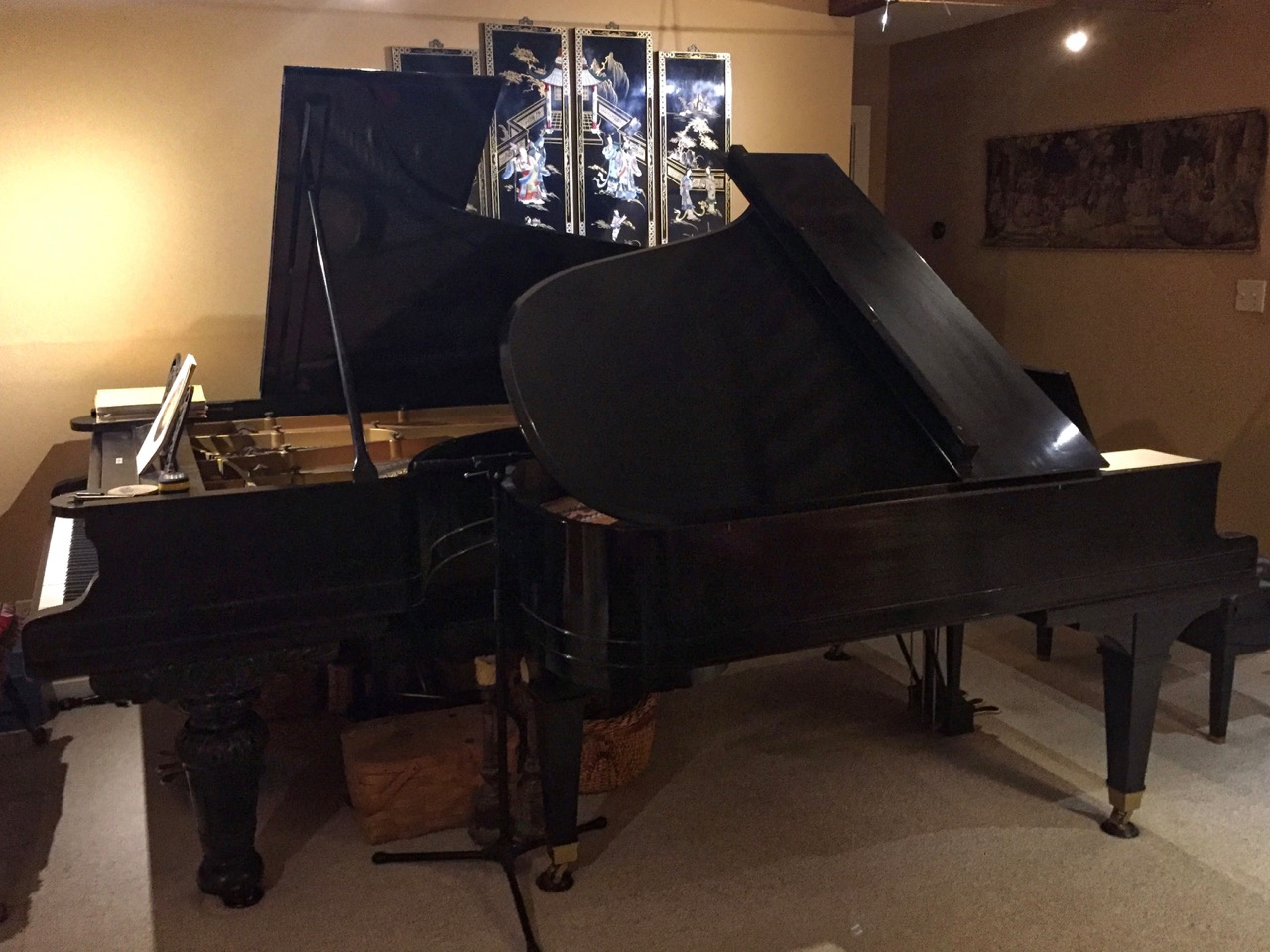 photo of The Weber and Baldwin Pianos Nested