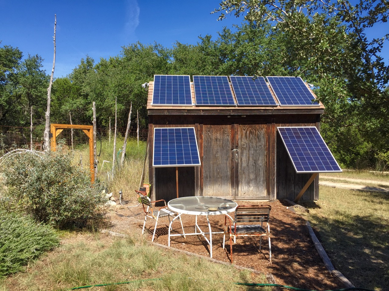 photo of A solar-powered water shed
