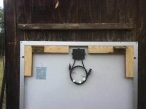 photo of Solar panel hinged mounting